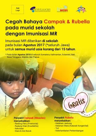 Poster Imunisasi MR - Murid Sekolah
