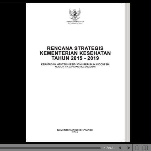 Rencana Strategis Kementerian Kesehatan Tahun 2015 2019 Promosi Kesehatan